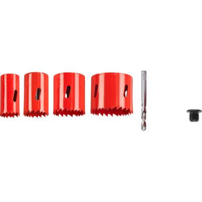 KWB Profi HSS varió fogazású, hexagon befogású korona fúró készlet, 5 darabos