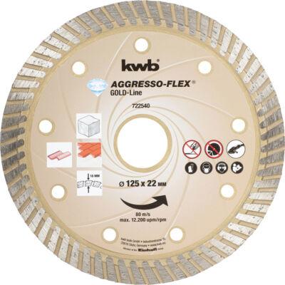 KWB PROFI GOLD-LINE szegmentált gyémánt vágókorong 125x22mm
