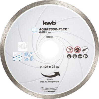KWB PROFI WHITE-LINE szegmentált gyémánt vágókorong 115x22mm
