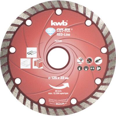 KWB PROFI RED-LINE szegmentált gyémánt vágókorong 230x22mm