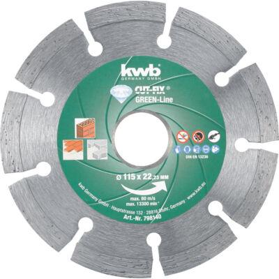KWB PROFI GREEN-LINE szegmentált gyémánt vágókorong 125x22mm